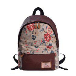 Douguyan Fashion School Canvas Sac à dos imprimé mignon G00320A -