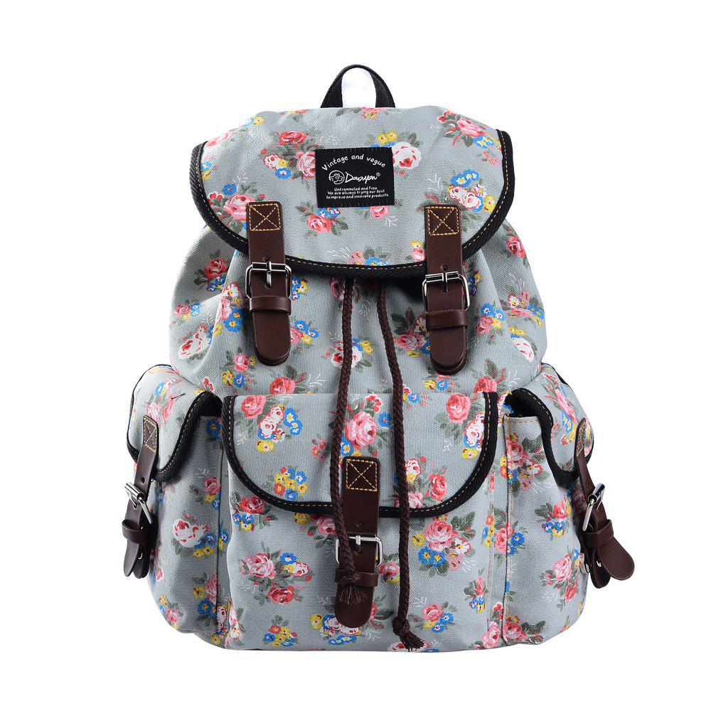 8b27114db0fc Unique Teen Girls School Bookbag Rucksack Casual Daypack Floral Backpack