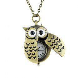 Fashion Cute Alloy Bird Wing Workable Pocket Watch -