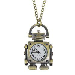 Fashion Cute Robot Pocket Watch with Long Chain -
