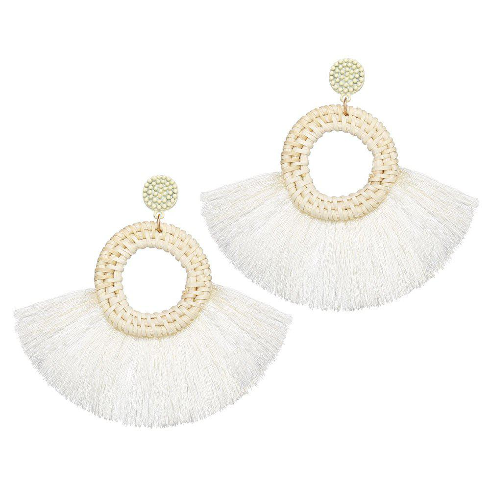 Unique Fashionable National Style Individual Character Exaggerated Wool Tassel Earrings