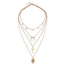 New Vintage Style Multi-Layer Pendant Necklace -