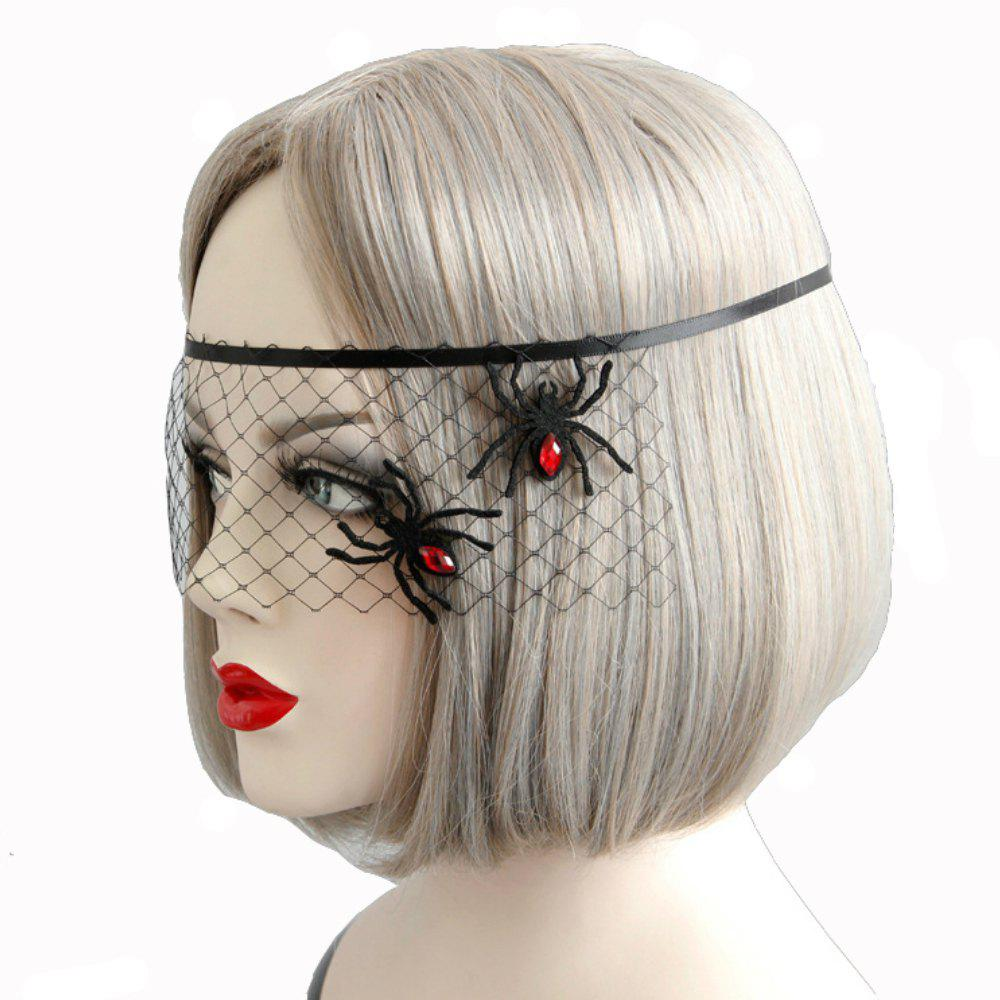 Fancy Spider Decoration Mask Face Veil Accessories for Women