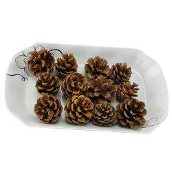 12 Pieces Home Window Simulation Pine Nut Christmas Decoration -
