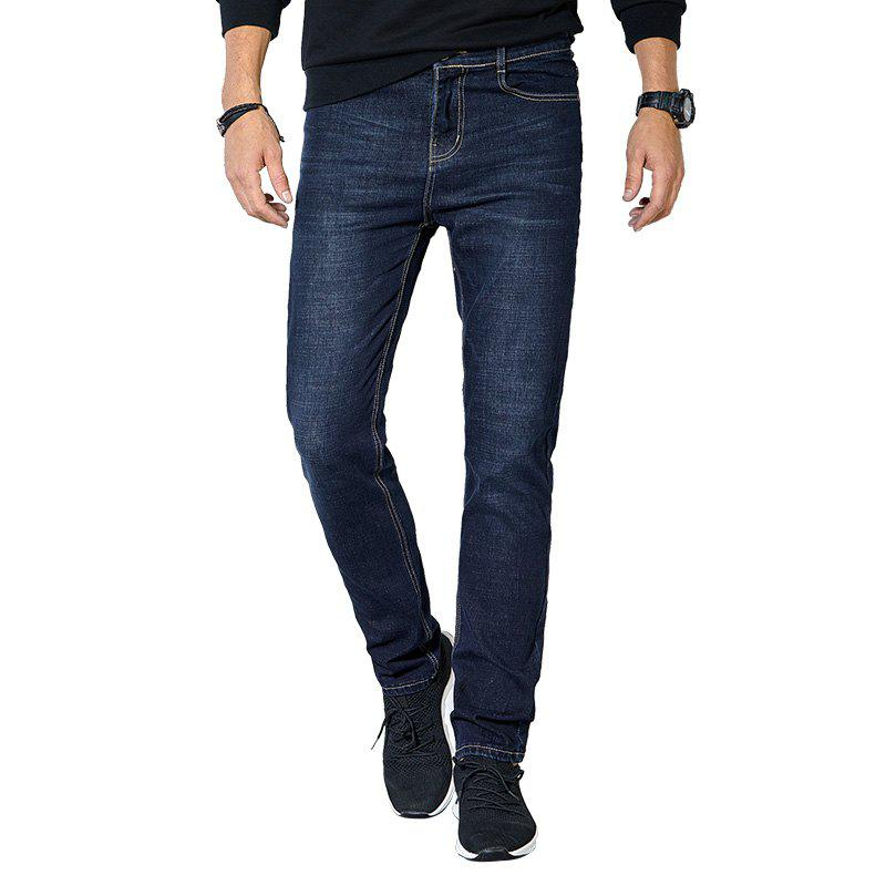 Buy Autumn Clothes Men Casual Pants Trend Solid Color Slim Wash Straight Jeans