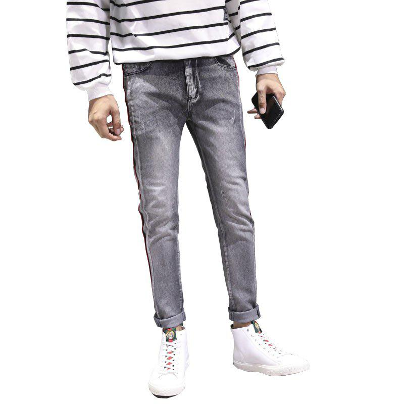 Online Men Clothes Fall Fashion Teens Trim Jeans Casual Bottom Pants