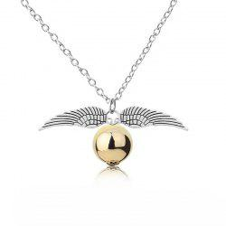 European and American Fashion Ladies' Wings and Bead Pendant Necklace -