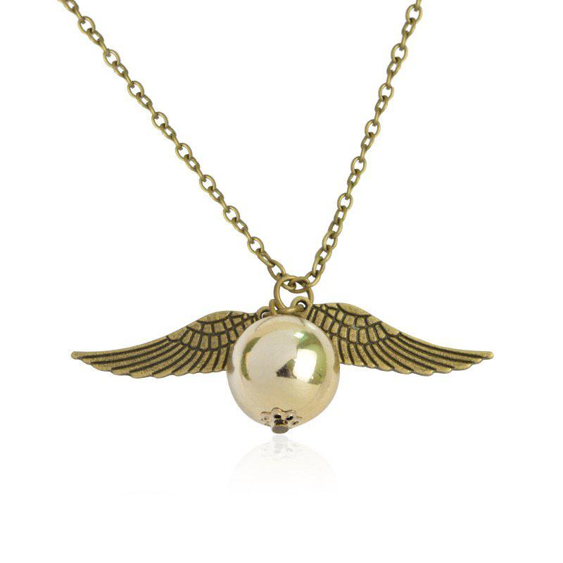 Shop European and American Fashion Ladies' Wings and Bead Pendant Necklace