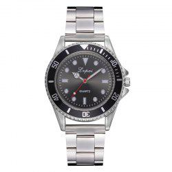P691 Fashion Scale Dial Unisex Alloy Quartz Watch -