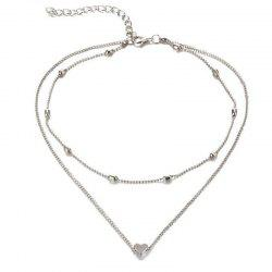Trend Fashion Women's Hearts Necklace -
