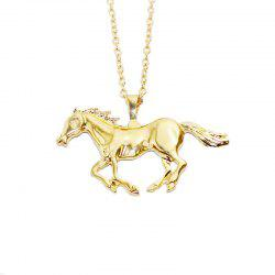 Brief Fashion Fashion Men Simulation Horse Shaped Pendant Necklace -