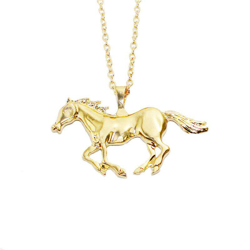 Sale Brief Fashion Fashion Men Simulation Horse Shaped Pendant Necklace