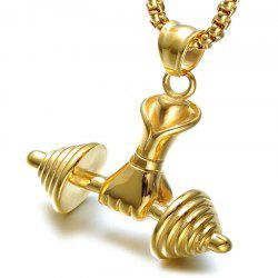 Simple Sports Fitness Men'S Single Hand Weight Lifting Pendant Necklace -