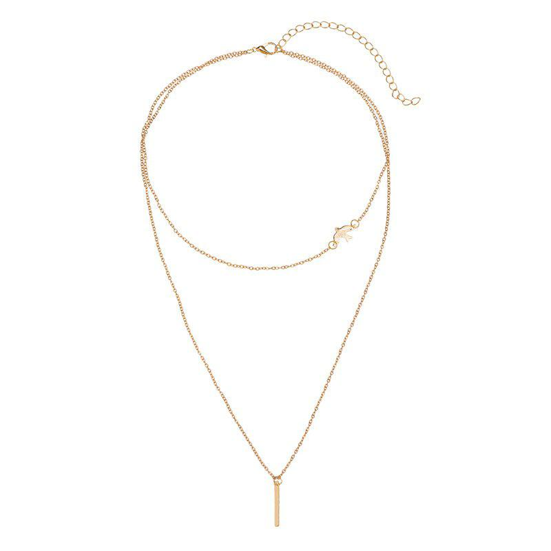 Outfits Bohemia Wind Minimalist Dove Pendant Double-Layers Necklace