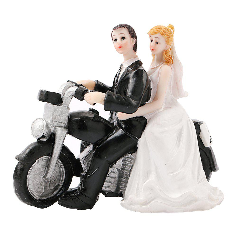Latest Motorcycle Groom Bride Cake Ornaments Decoration