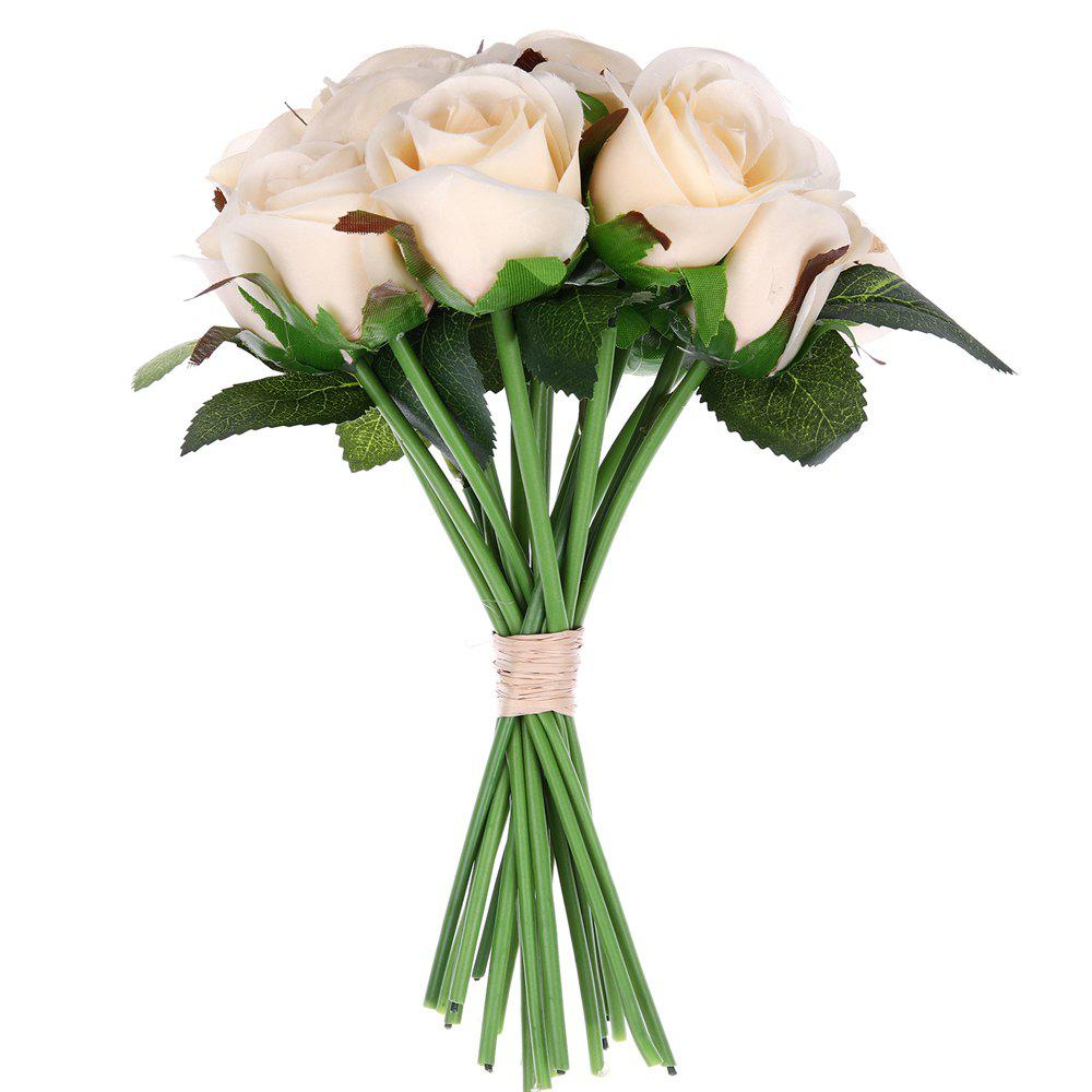 2018 A Bouquet Of 16 Heads Luxury Rose Home Decor Artificial Flower