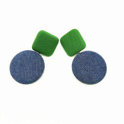 Women's Drop Earrings Chic Stylish Geometry Contrast Color Design Accessories -