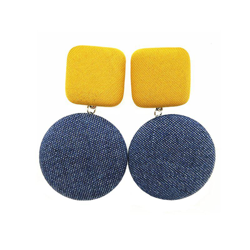 Affordable Women's Drop Earrings Chic Stylish Geometry Contrast Color Design Accessories