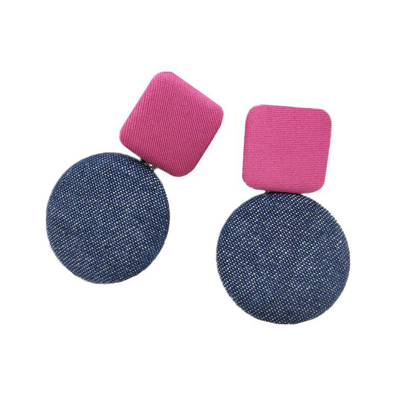 Latest Women's Drop Earrings Chic Stylish Geometry Contrast Color Design Accessories