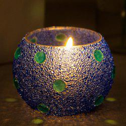 Handmade Glass Ball Candle Holder Home Decoration for Paty -