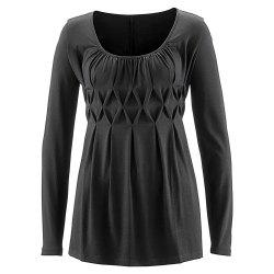 Women's Wild Solid Color Wrinkle Plus Size Long Sleeve Pullover T-shirt -