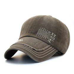 Cowboy Washed Embroidered Letters Sunscreen Cotton Outdoor Baseball Cap -