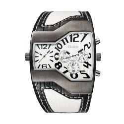 OULM Men's Casual Fashion Personality Creative Two-time Watch -