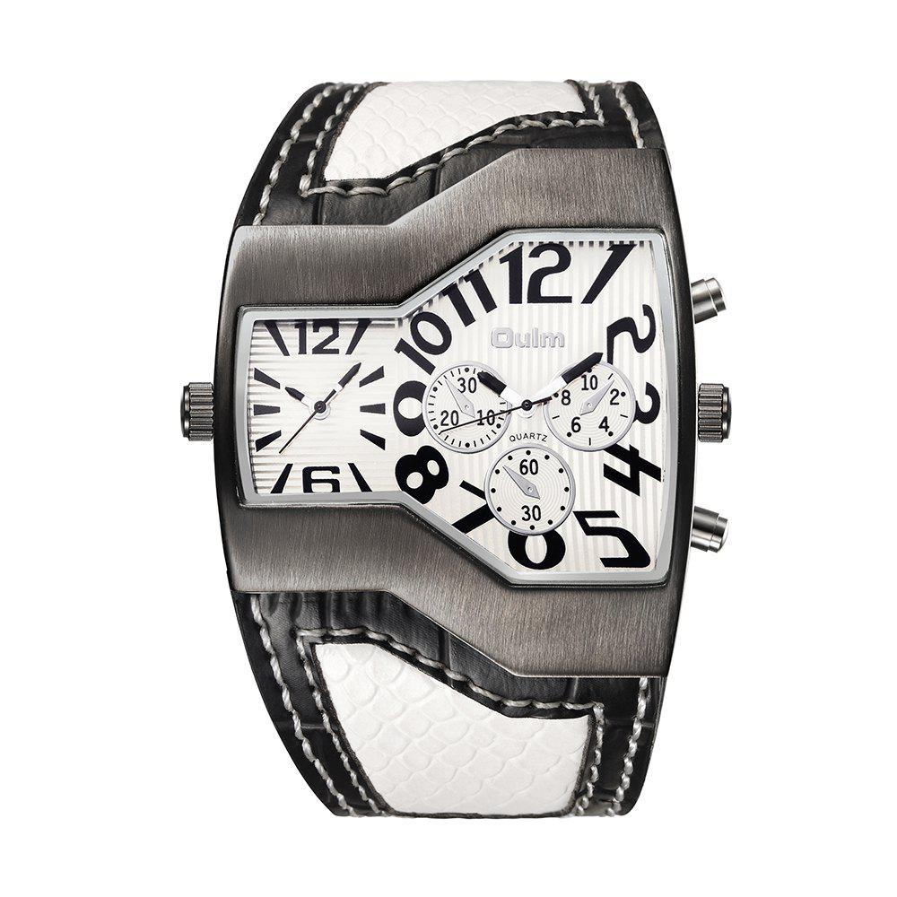 Cheap OULM Men's Casual Fashion Personality Creative Two-time Watch
