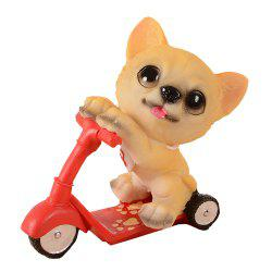 Dog Doll Riding Scooter Craft Gift -