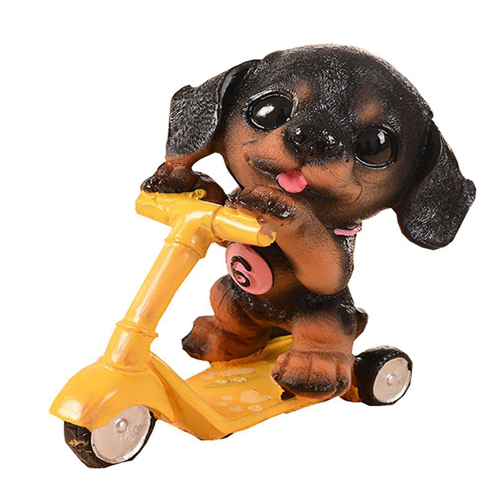 Unique Dog Doll Riding Scooter Craft Gift