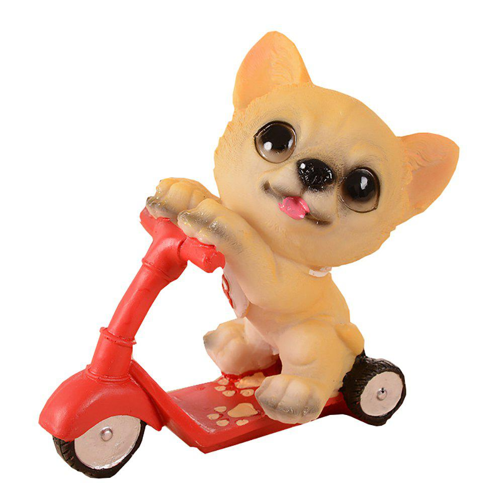 Affordable Dog Doll Riding Scooter Craft Gift
