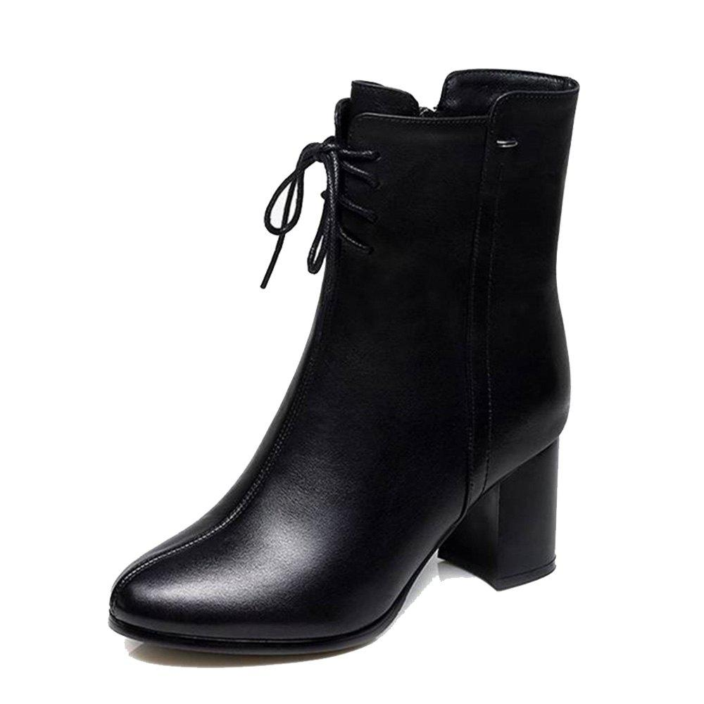 f07e80a65bfe 2019 High-heeled Boots With Thick Non-slip Shoes
