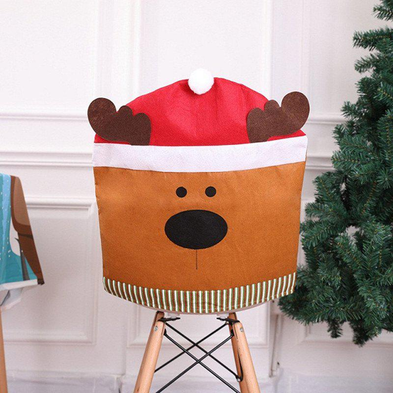 Cartoon Christmas Chair Cover Supply Table Decorative Gifts Home Chair Back Cove