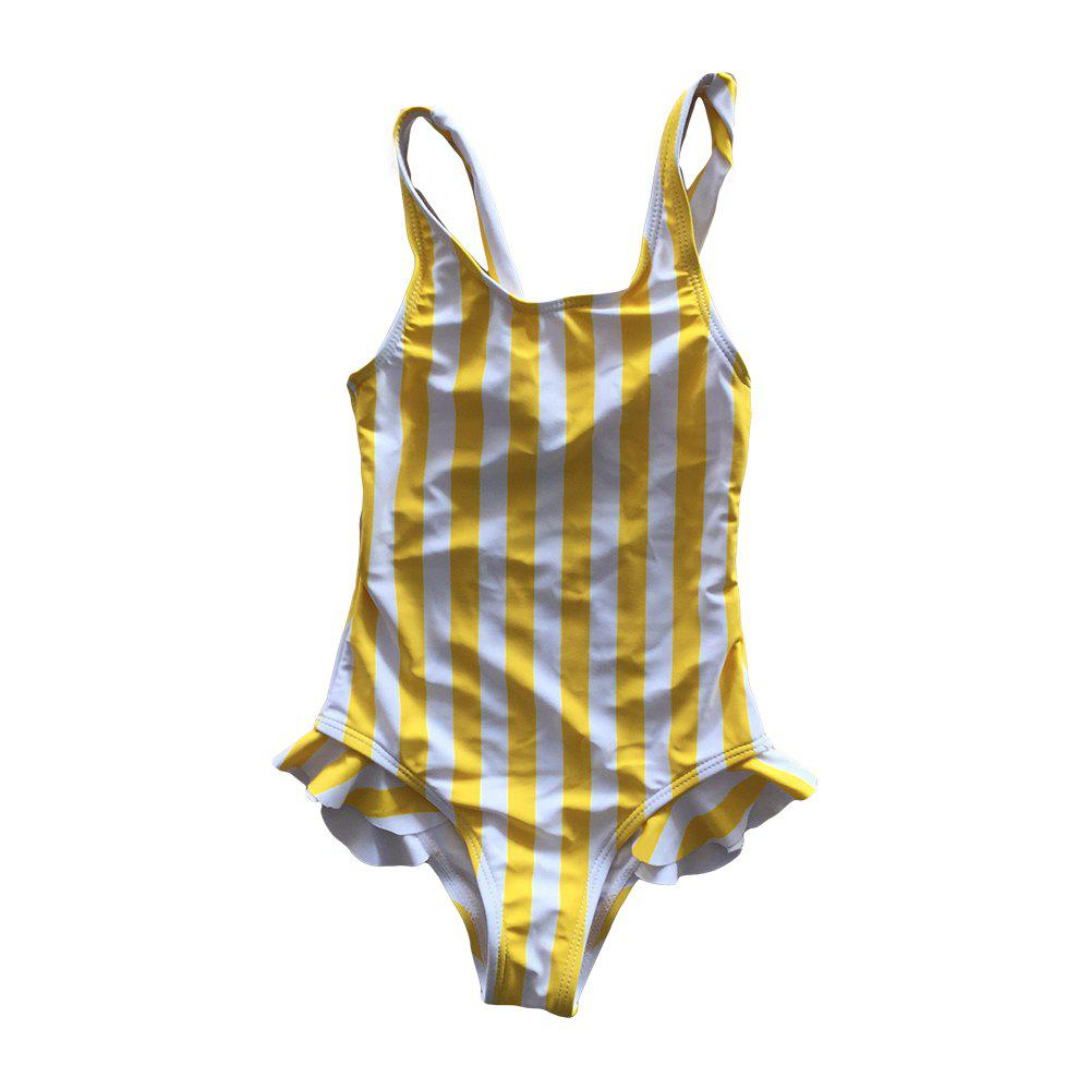 Shops SleeWlM Printing One-Piece Swimsuit Parent-Child Outfit Girl Stripe