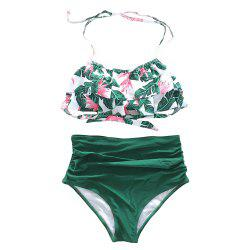 SleeWlM Printing Parent-Child Outfit Mom Swimwear -