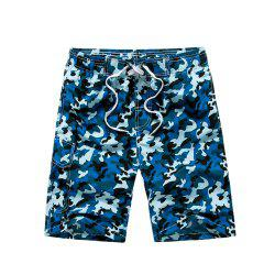 Summer Couples Loose Camouflage Casual Pants Quick Dry Shorts -