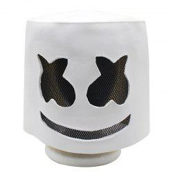 YEDUO Halloween Soft Latex DJ Marshmello Mask Cosplay Costume Accessory -
