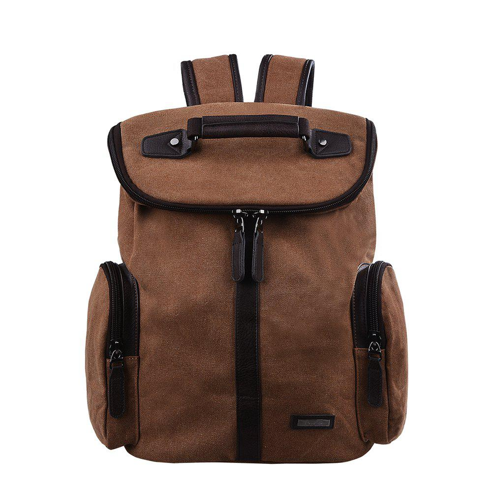 b00dfdceafa1 Fashion Douguyan 15.6 Inch Laptop Backpack Canvas Leather Backpack for Men  and Women