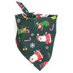 Christmas Gift Pet Mouth Towel Cotton Triangle Scarf Cat and Dog Accessories -
