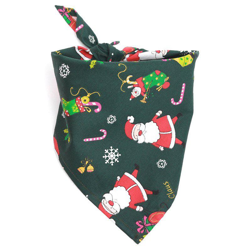 Christmas Gift Pet Mouth Towel Cotton Triangle Scarf Cat and Dog Accessories