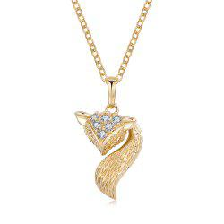 Luxurious little fox Zircon Necklace -