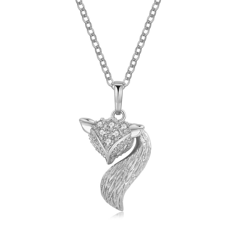 Affordable Luxurious little fox Zircon Necklace