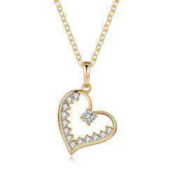 Heart core ornament Zircon Necklace -