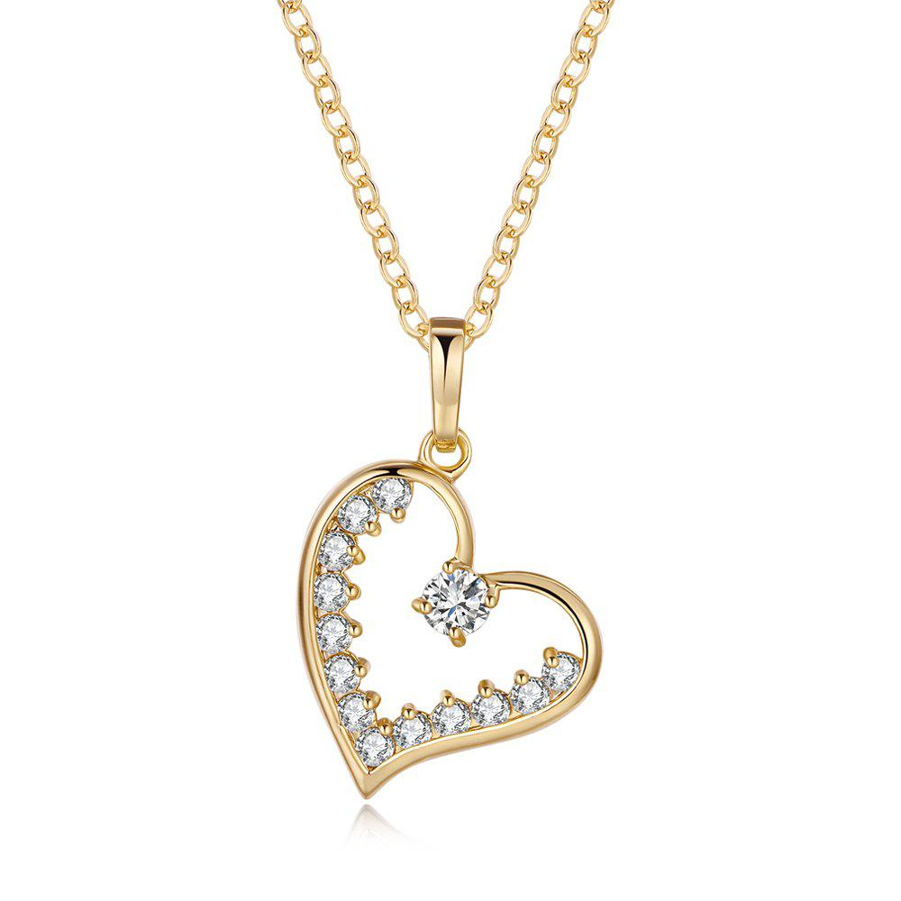 Chic Heart core ornament Zircon Necklace