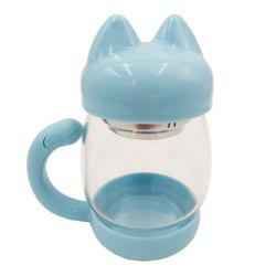 420ML Cute Cat Glass Mug With Filter Coffee Tea Drinkware Cup -