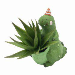 Creative Mini Cartoon Dinosaur Resin Handicraft Adorable Flowerpot -