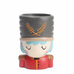 Creative Cartoon Person Resin Handicraft Adorable Flowerpot -