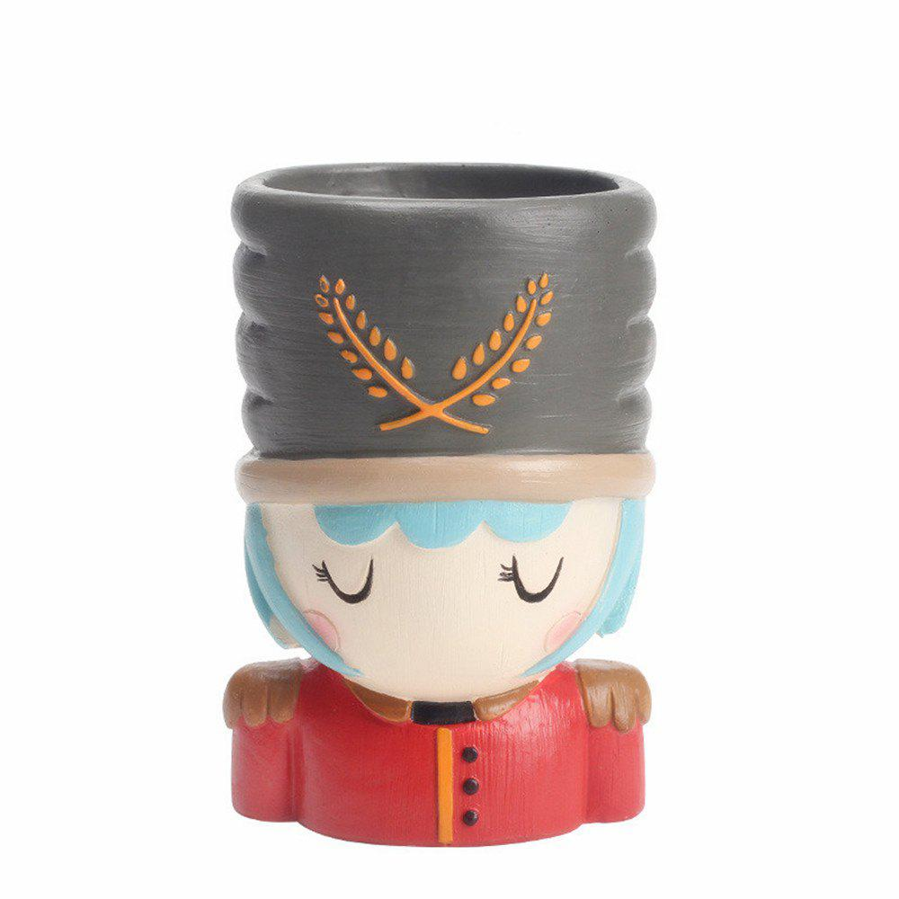 Best Creative Cartoon Person Resin Handicraft Adorable Flowerpot