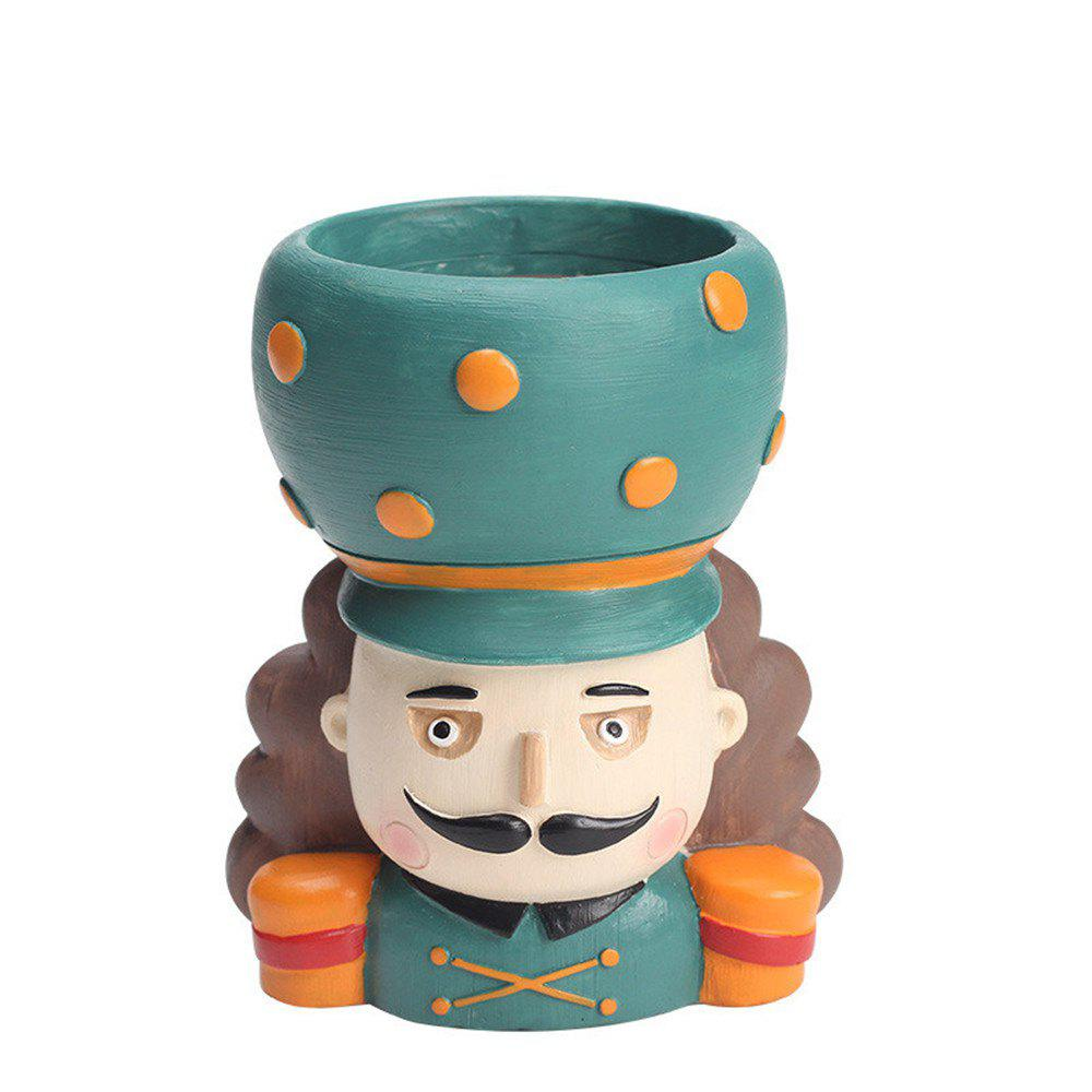 Store Creative Cartoon Person Resin Handicraft Adorable Flowerpot