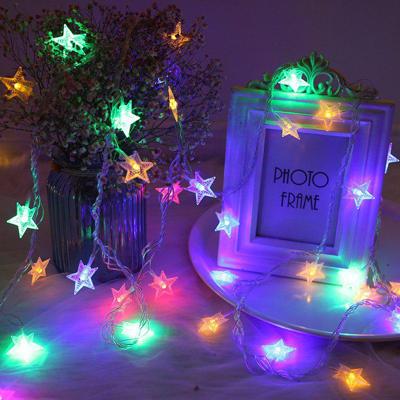 Buy M 220V EU Plug Christmas tree Star String Fairy Novelty Lights LED Holiday light